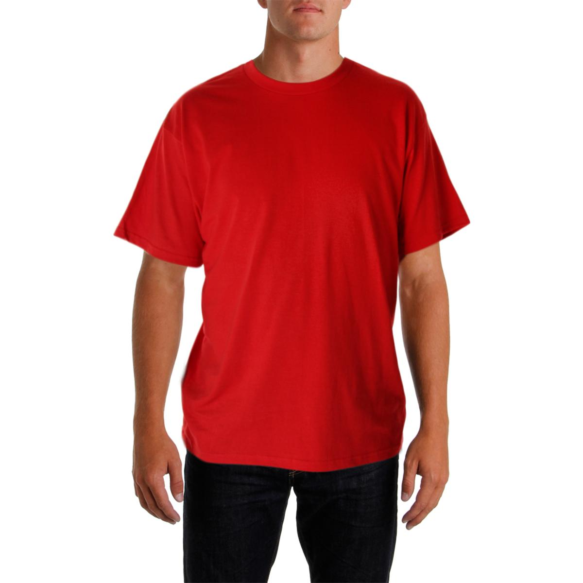 2b2a326de3fe Details about Nike Mens Red Cotton Short Sleeves T-Shirt Athletic L BHFO  1010