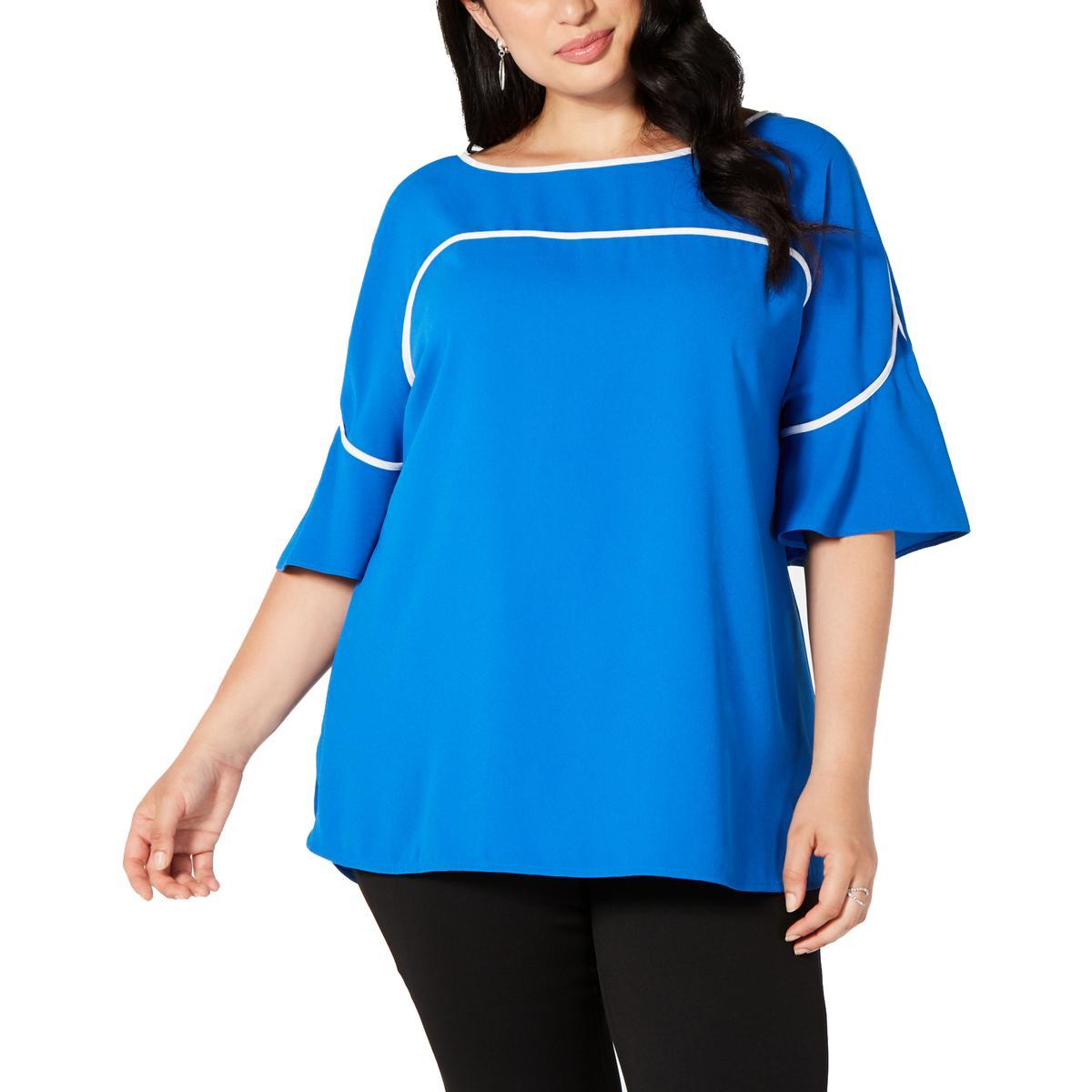 Alfani Womens Pink V-Neck Layered Tank Top Shirt Plus 3X BHFO 6184