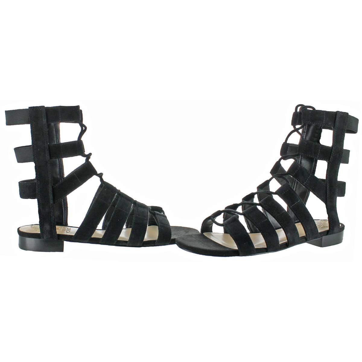 7fbb6f5dc4d1 Vince Camuto Helayn Women s Suede Open Toe Ghillie Caged Sandals ...