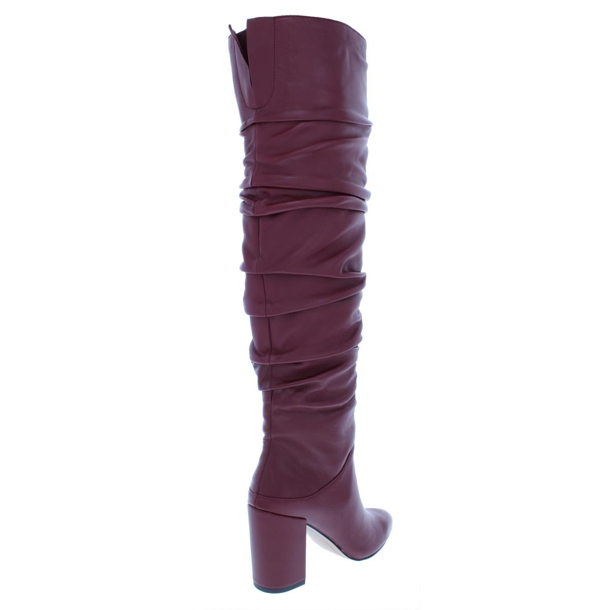 INC Womens Tabithaa Leather Ruched Pointed Toe Knee-High Boots Heels BHFO 4782