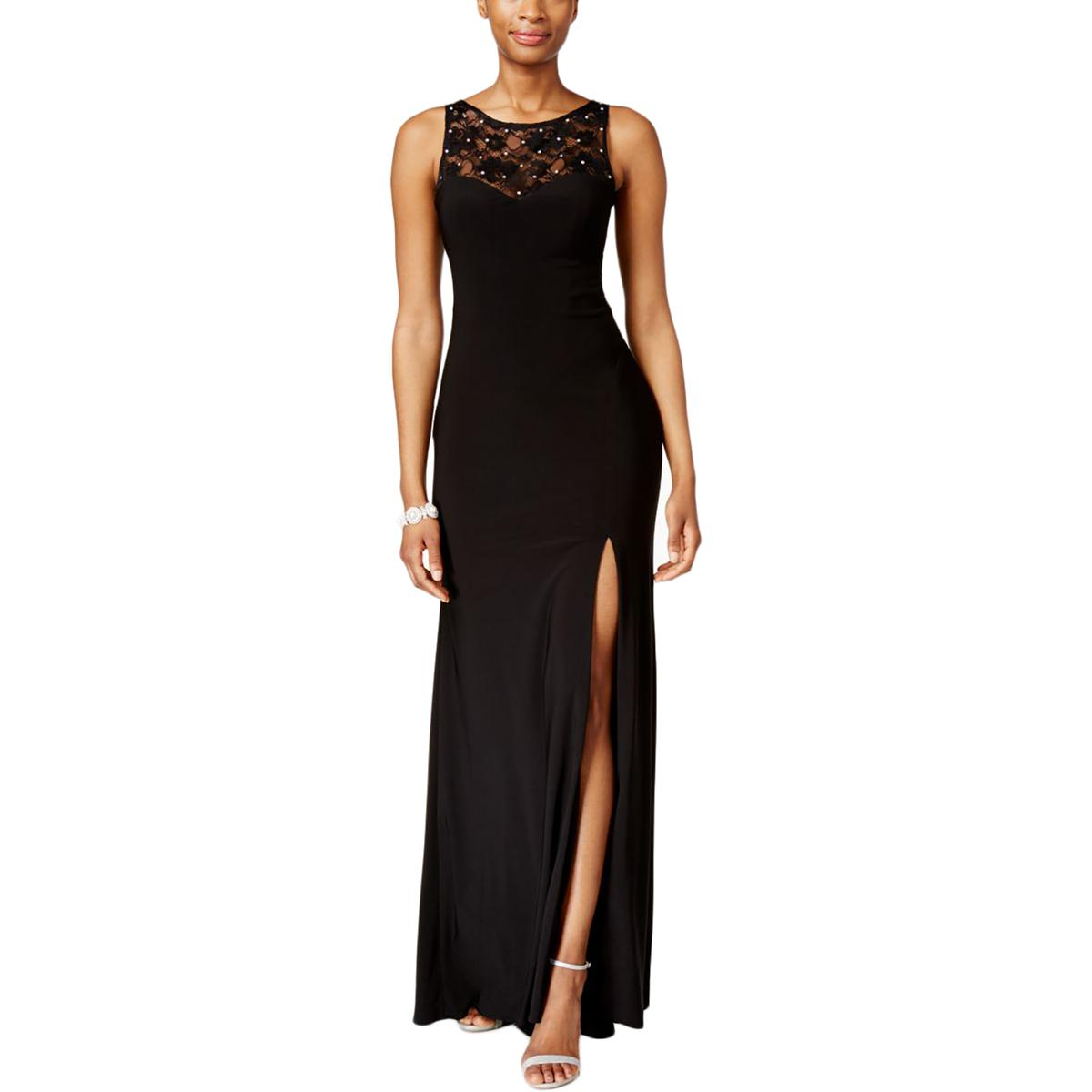 59068e13 Details about X by Xscape Womens Black Rhinestone Lace Formal Evening Dress  Gown 6 BHFO 1952