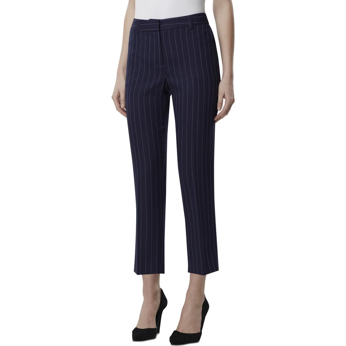 Alfani Womens Textured Geometric Control Top Ankle Pants Plus BHFO 3926