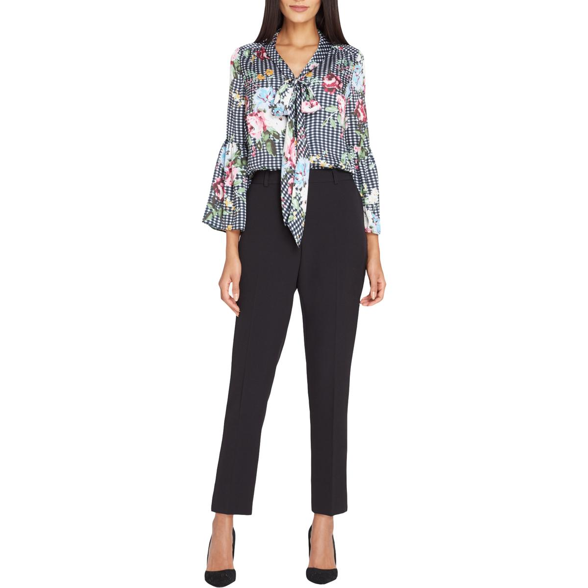 588108e827126 Details about Tahari ASL Womens Floral Print Button-Down Top Shirt Petites  BHFO 0869