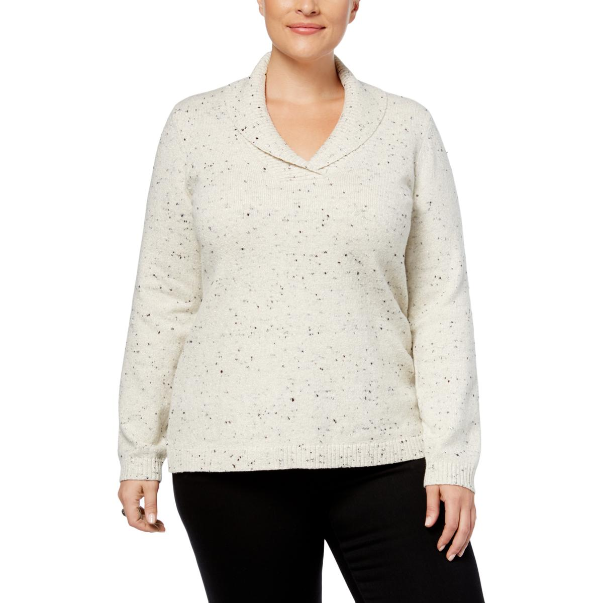 a429499c0fe38f Details about Charter Club Womens Metallic Cowl Neck Pullover Sweater Top  Plus BHFO 6000