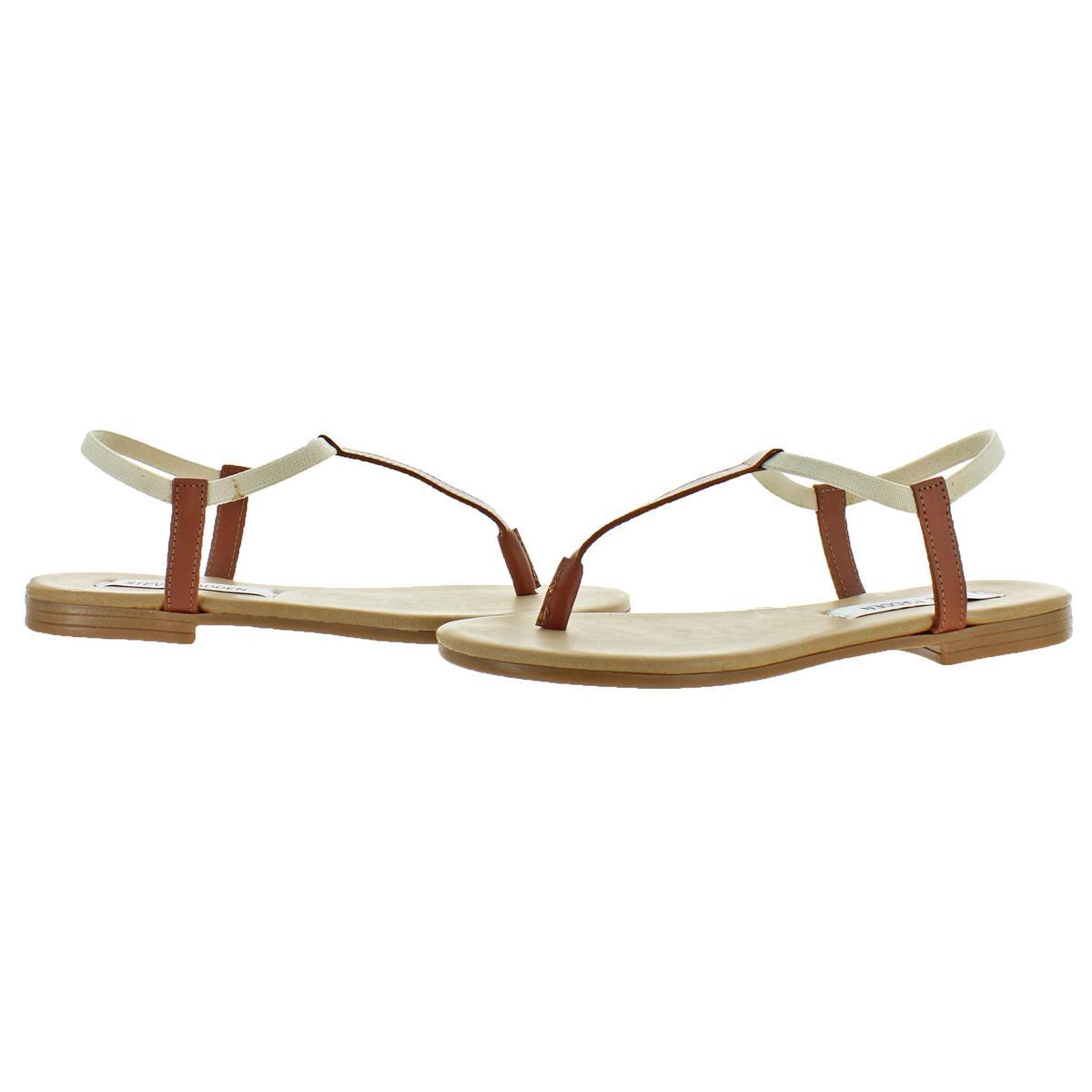 Steve-Madden-Women-039-s-Synergy-Leather-Thong-T-Strap-Sandals thumbnail 6