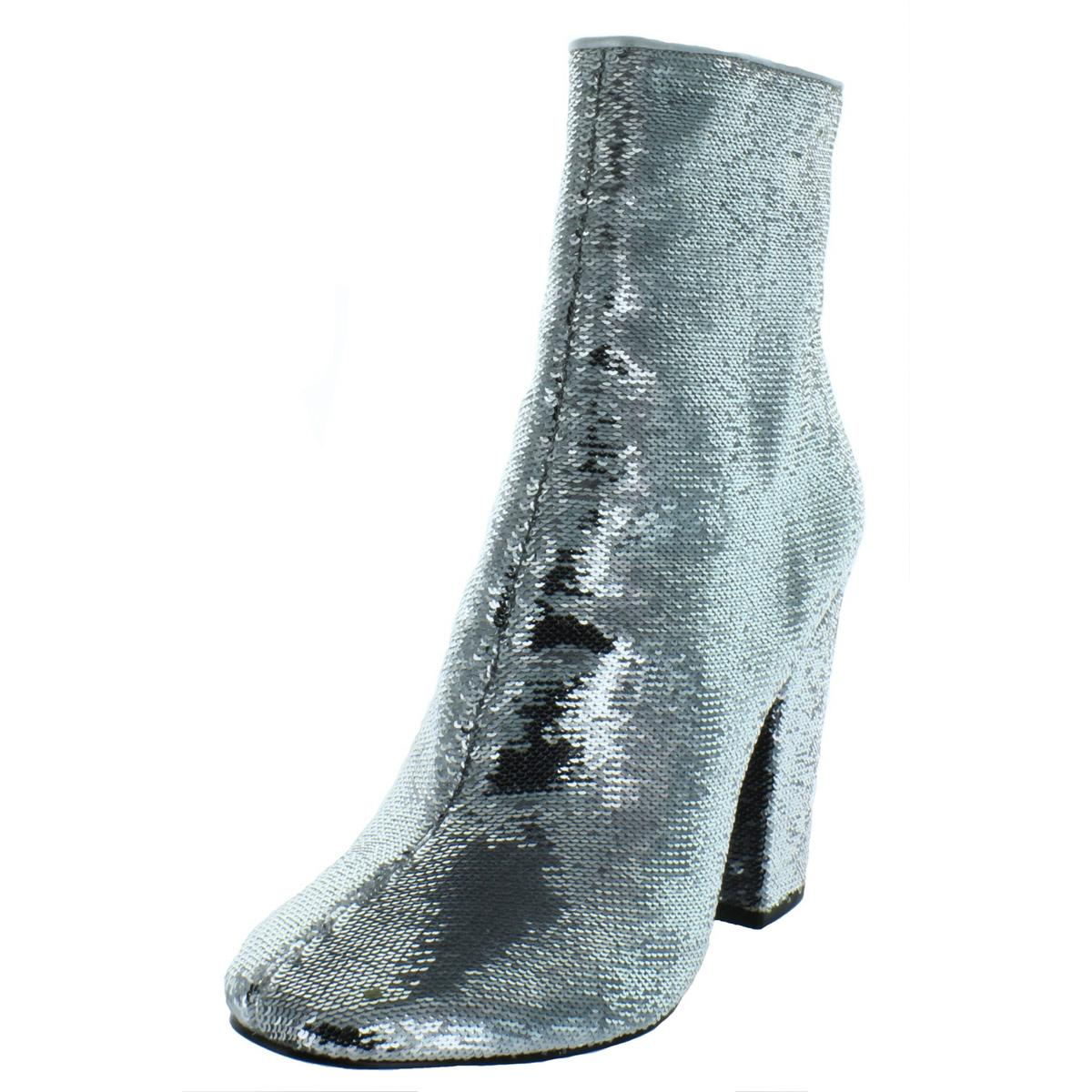 c6e72a0835c8b Details about Kendall + Kylie Womens Haedyn5 Sequined Block Heel Booties  Shoes BHFO 8149