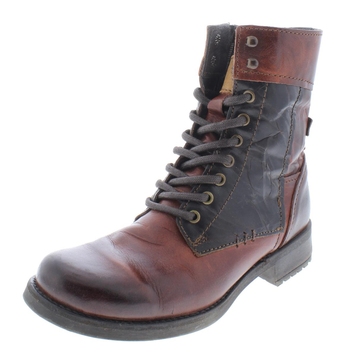 Bernie Mev Womens Brown Ankle Lace-Up Booties shoes 37 Medium (B,M) BHFO 5592