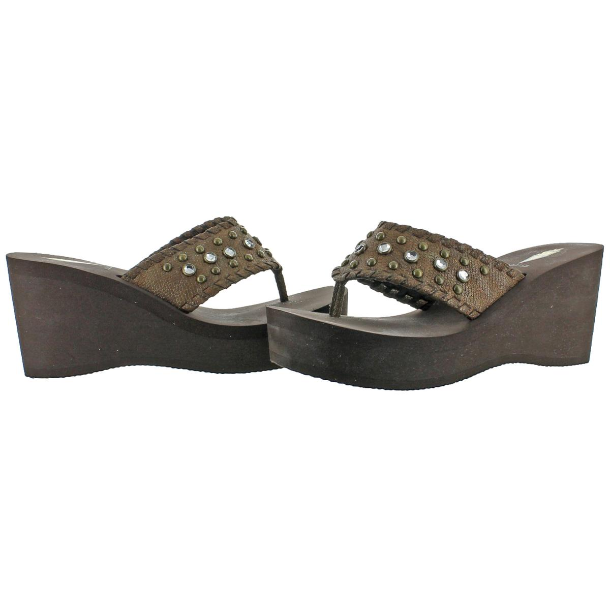 Volatile-Billyray-Women-039-s-Studded-Metallic-Slip-On-Platform-Wedge-Sandals-Shoes thumbnail 3