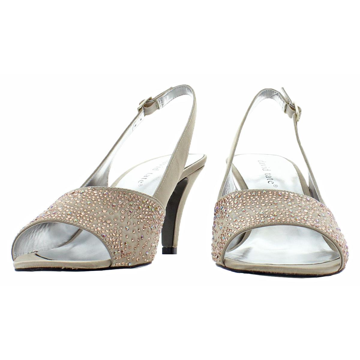 David-Tate-Women-039-s-Stunning-Satin-Embellished-Slingback-Dress-Pump thumbnail 7
