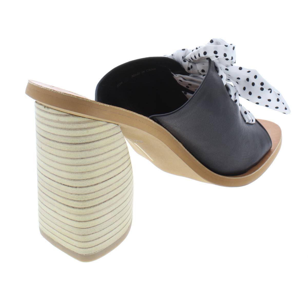 Dolce-Vita-Womens-Amber-Leather-Open-Toe-Slip-On-Heels-Sandals-BHFO-8080 thumbnail 4
