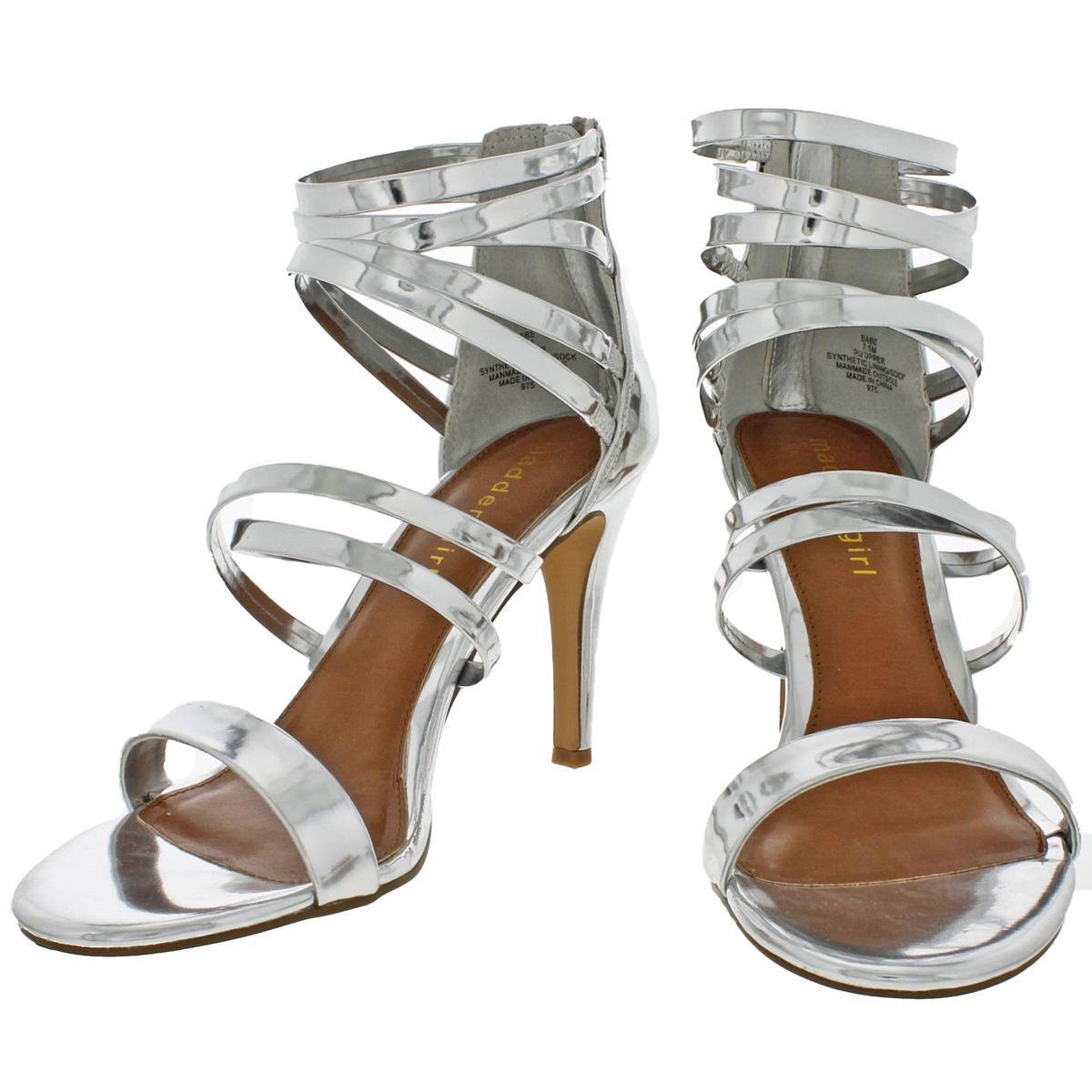 Madden-Girl-by-Steve-Madden-Womens-Babe-Metallic-Strappy-Sandals-Heels-BHFO-9082 thumbnail 6