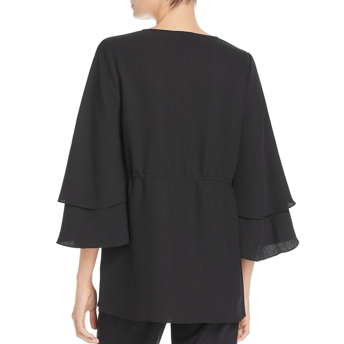 Lysse Womens Remy Velvet Bell Sleeves Blouse Tunic Top Shirt BHFO 8954