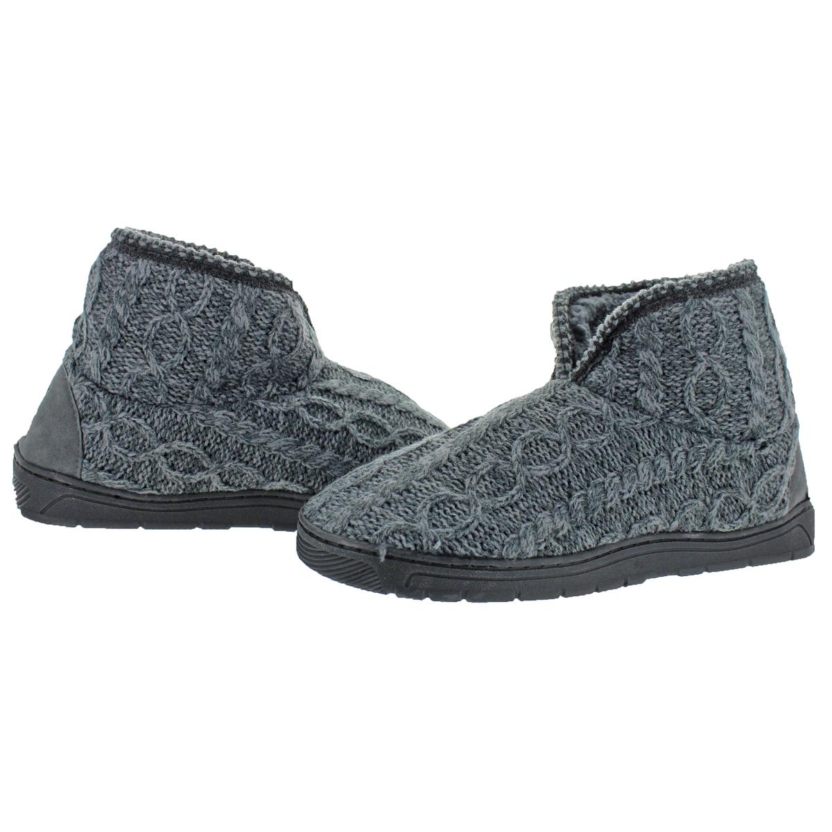 Mukluks-Men-039-s-Mark-Sweater-Knit-Furpa-Ankle-Bootie-House-Slippers thumbnail 10