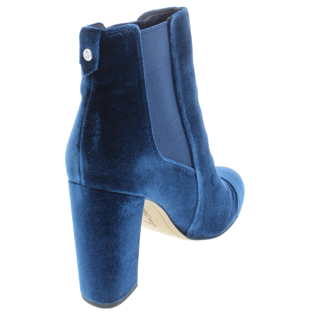 3f6d96b56e77 Sam Edelman Womens Case Blue Velvet BOOTIES Shoes 10 Medium (b M ...