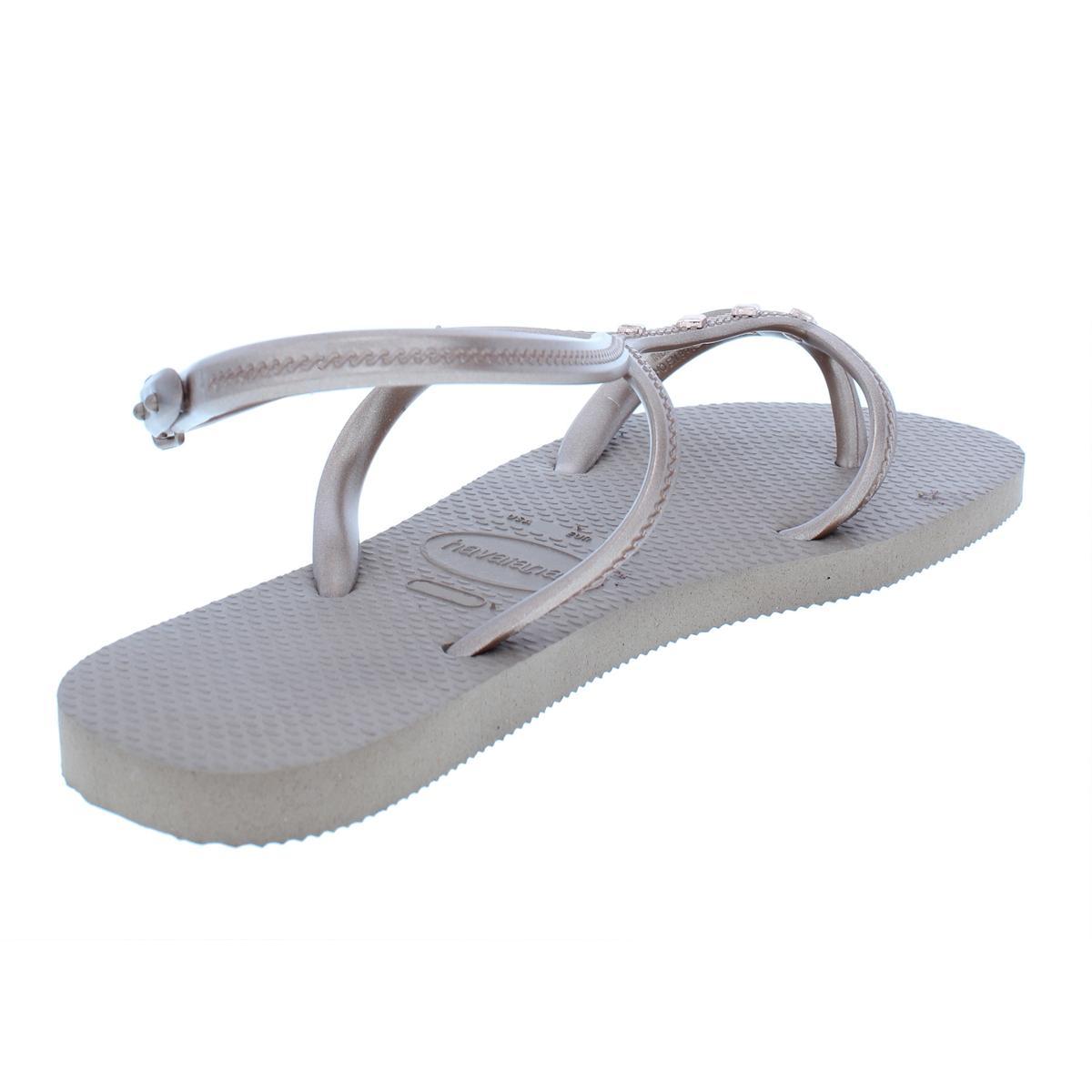 2cb35b7d5d1d Havaianas Womens Allure Maxi Beige Flip-flops Sandals 6 Medium (b M ...