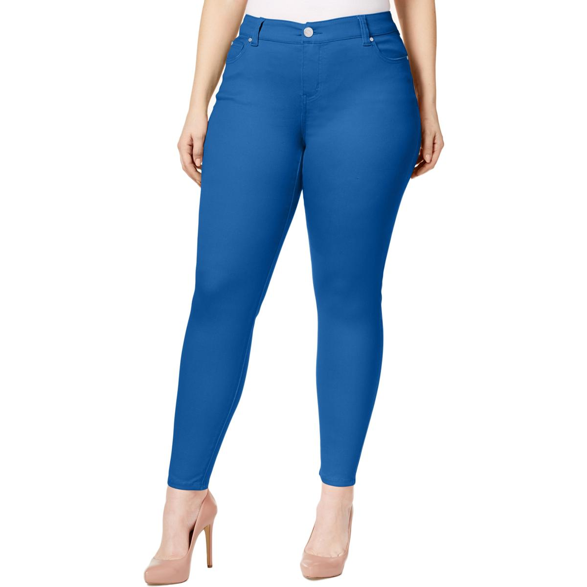 d198cc737d4 Details about Celebrity Pink Womens Blue Denim Colored Mid-Rise Skinny Jeans  16 BHFO 1977