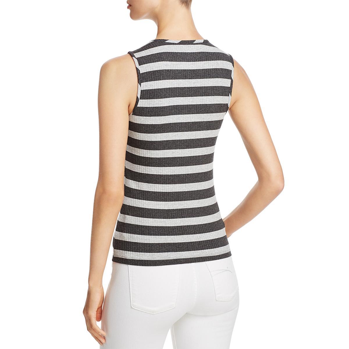 007d5b2b56cd3 Buy Three Dots Womens Gray Extended Shoulders Striped Tank Top Shirt M BHFO  0331 online