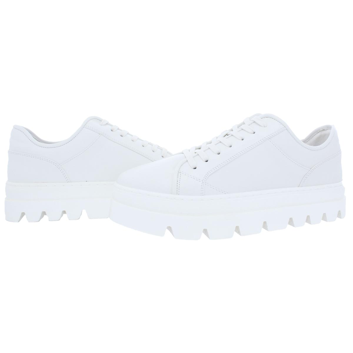 Steve-Madden-Kickstart-Women-039-s-Faux-Leather-Fashion-Lace-Sneaker-Shoes thumbnail 9