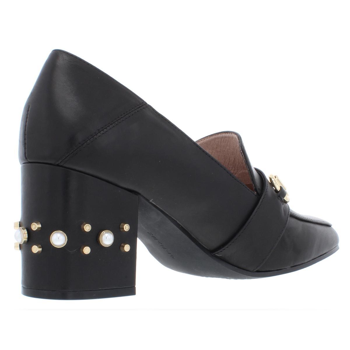 Steven-By-Steve-Madden-Womens-Layla-Leather-Pumps-Block-Heels-Shoes-BHFO-1604 thumbnail 4