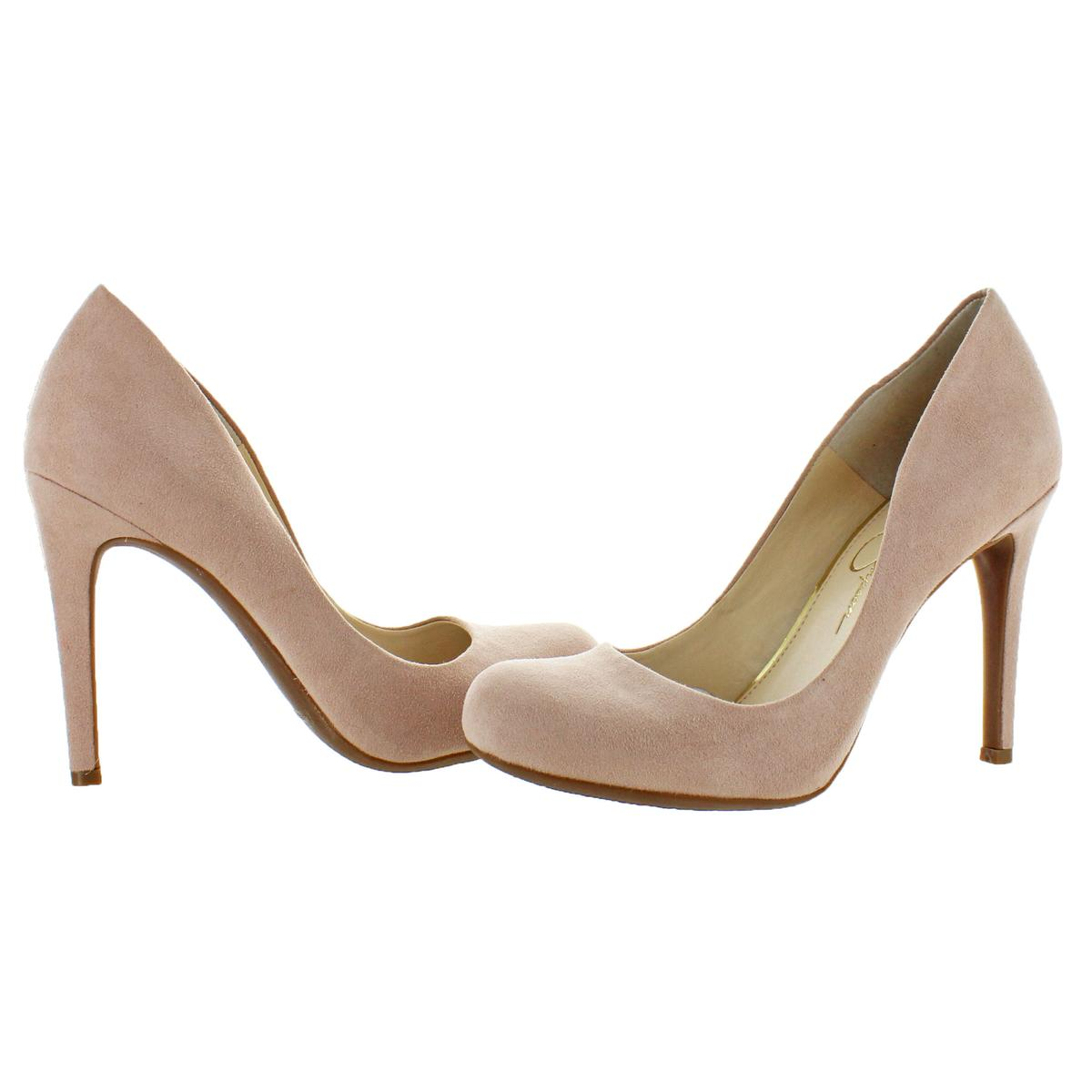 Jessica-Simpson-Women-039-s-Calie-Round-Toe-Classic-Heels-Pumps-Shoes thumbnail 6