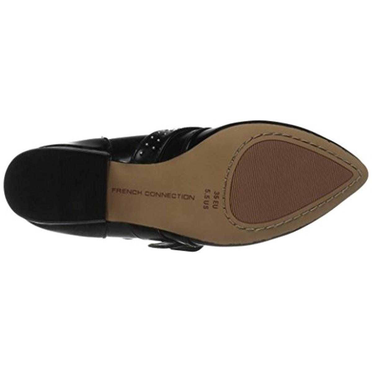 French-Connection-Womens-Roree-Leather-Studded-Booties-Shoes-BHFO-3115