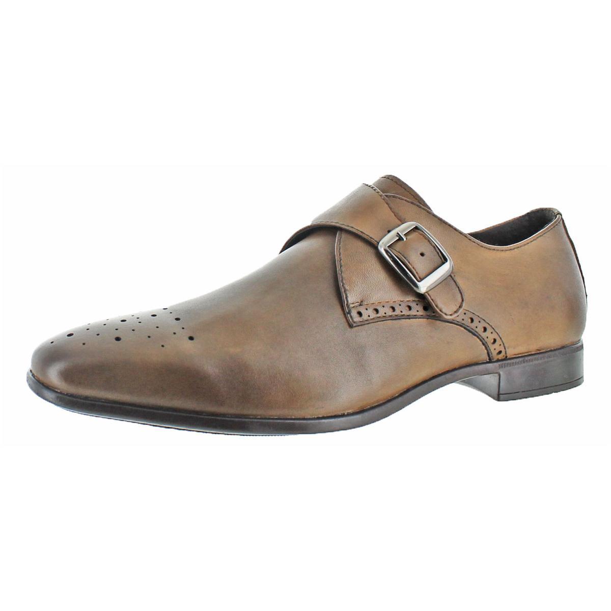 Charles-Jourdan-Jean-Men-039-s-Leather-Slip-On-Brogue-Loafer-Dress-Formal-Monk-Shoes