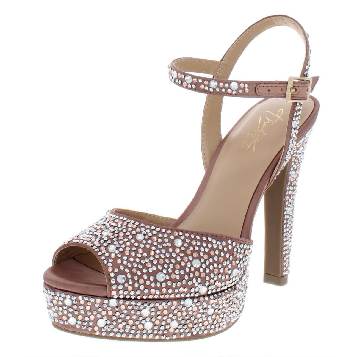 4e864e73a3d Details about Thalia Sodi Womens Bridget Satin Platform Peep Toe Dress  Sandals Heels BHFO 3219