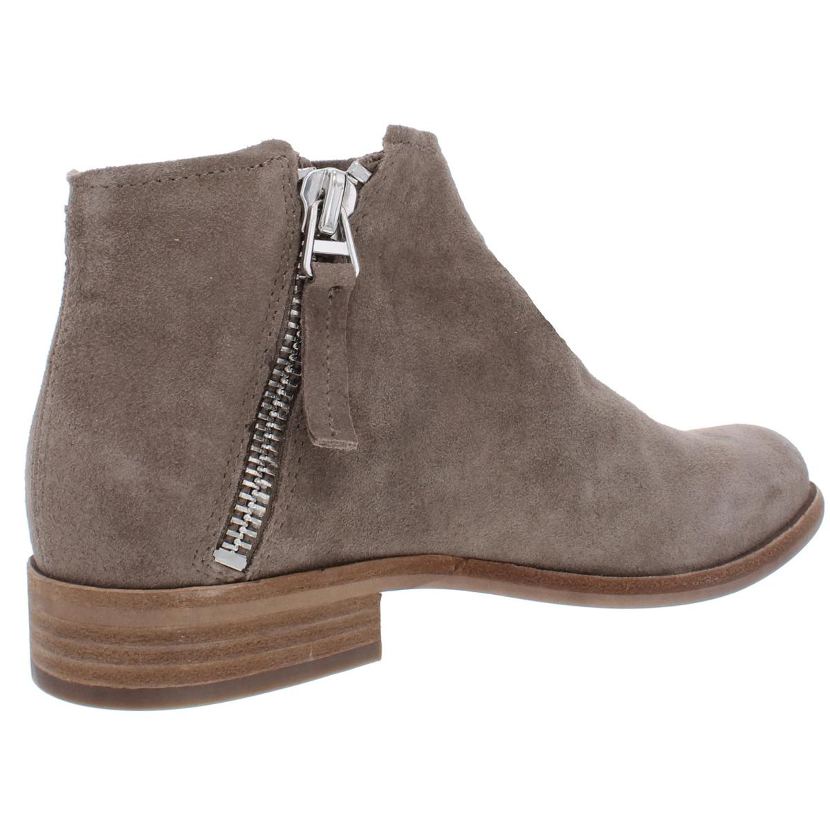 Dolce Vita Womens Vesa Leather Ankle Stacked Booties Shoes BHFO 2653