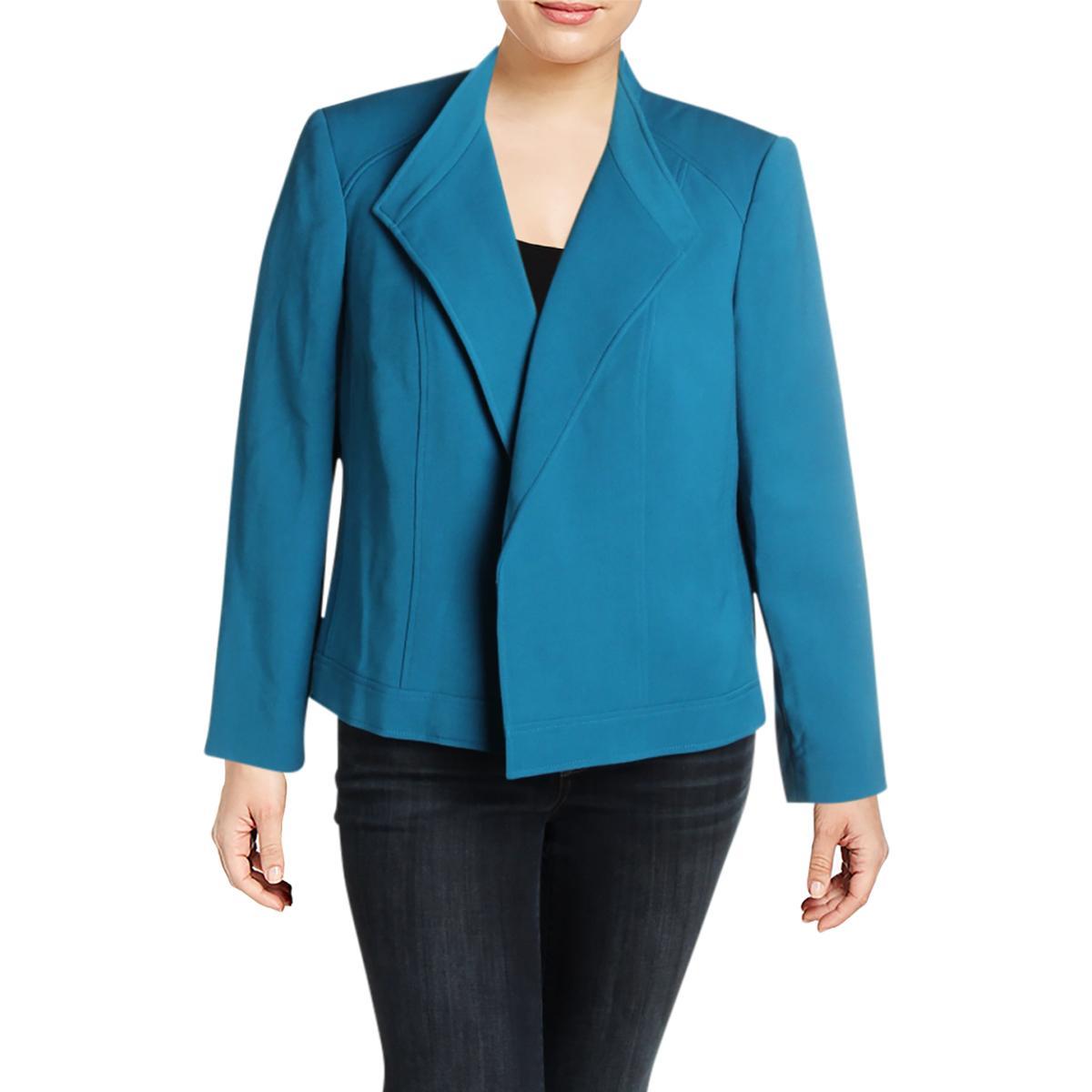 cff00d7304e Details about Tahari ASL Womens Blue Wear to Work Dressy Suit Jacket Blazer  Plus 20W BHFO 7251