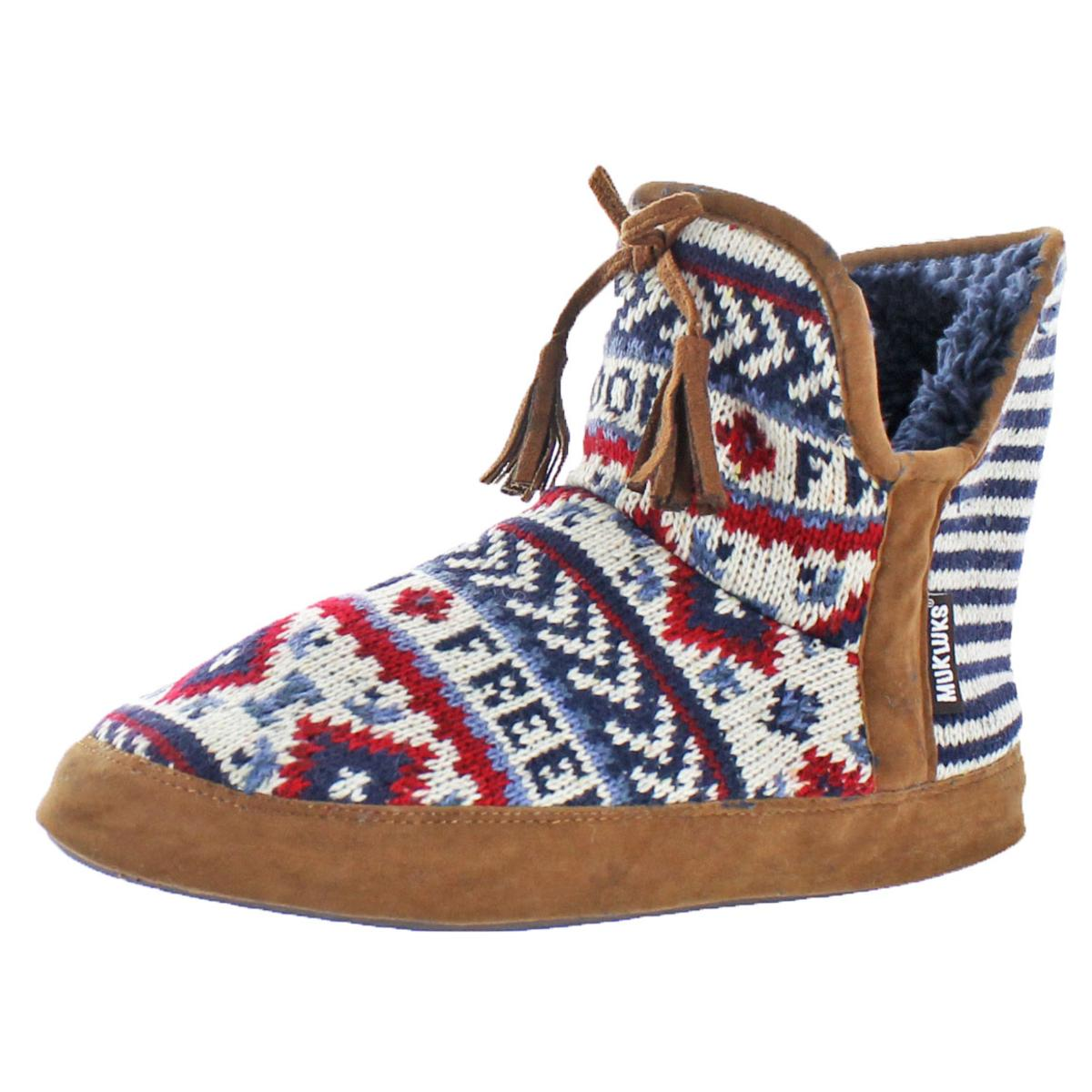 19cdf2ae063c4 Mukluk Pennley Women's Knit Short Sweater Boots Slippers | eBay