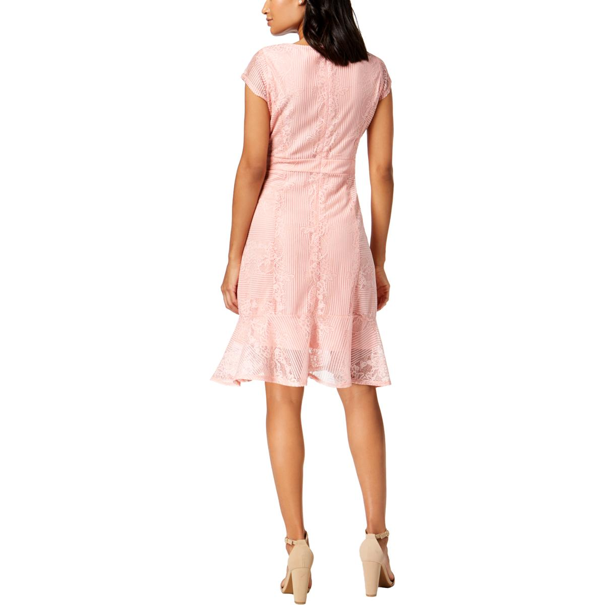 NY-Collection-Womens-Floral-Print-V-Neck-Cocktail-Party-Dress-Petites-BHFO-4087 thumbnail 5