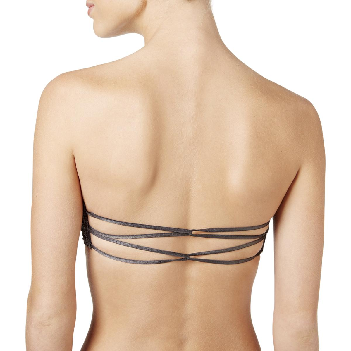 7ca2ce3116 Intimately Free People Womens Lace Bralette Strappy Back Bandeau Bra ...