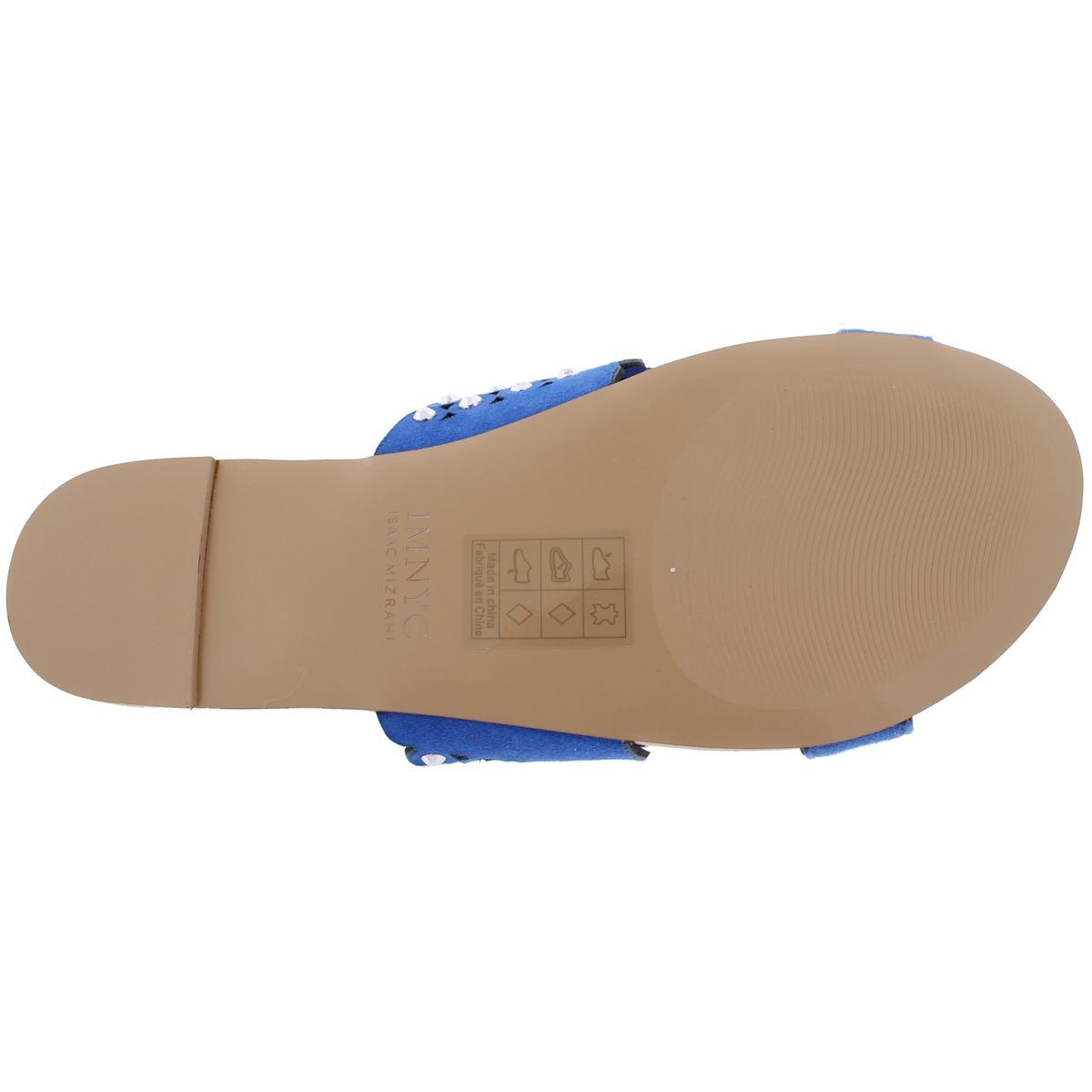 IMNYC-Isaac-Mizrahi-Womens-Suzie-Open-Toe-Studded-Slide-Sandals-Shoes-BHFO-2715 thumbnail 8