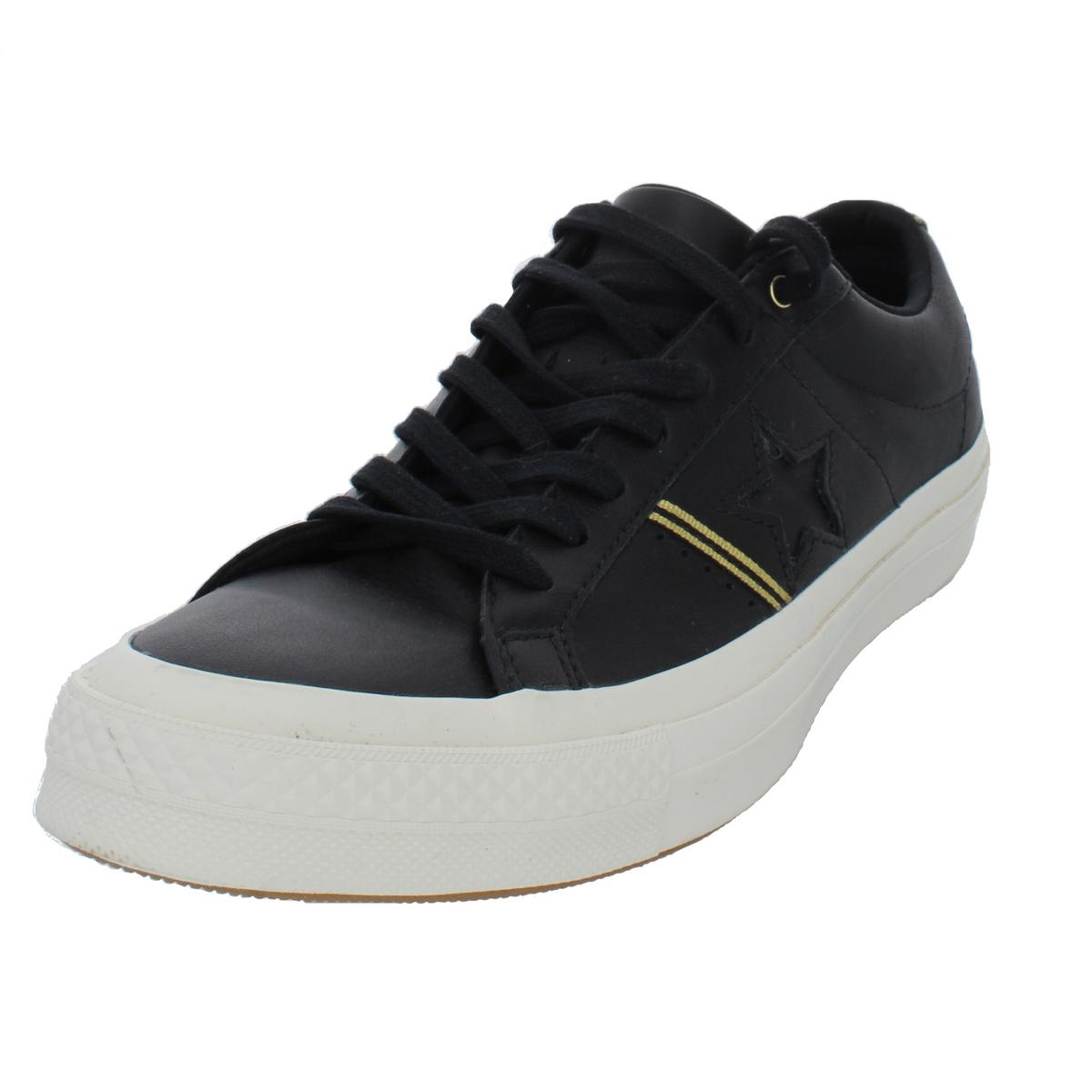 c71adc016f372b Details about Converse Womens One Star Ox Leather Low Top Fashion Sneakers  Shoes BHFO 5886