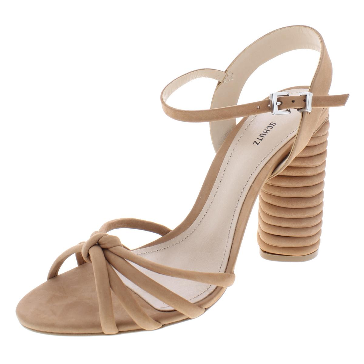 7e2d8157d66 Details about Schutz Womens Paolla Beige Tubular Evening Heels Shoes 9  Medium (B
