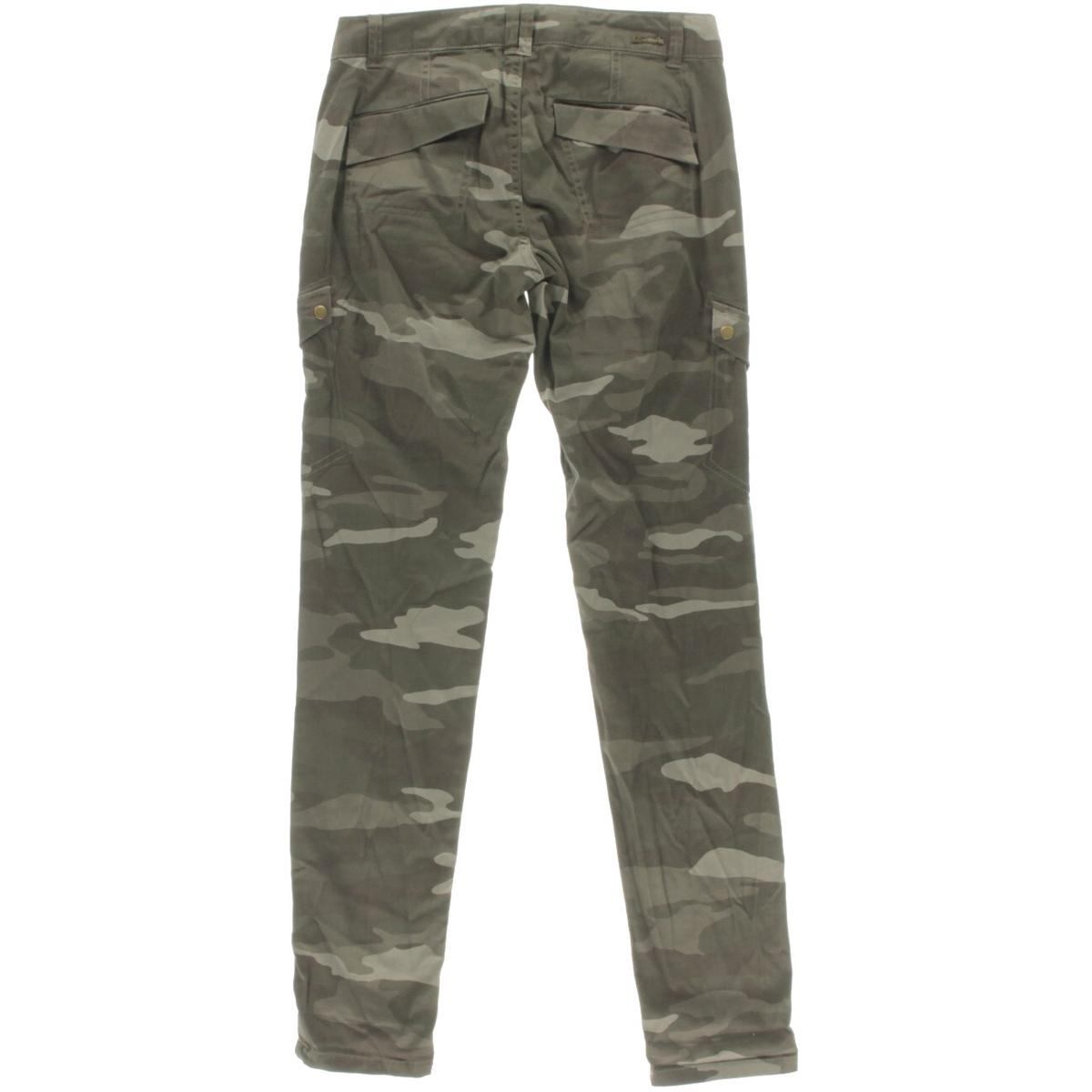 Rewind 9127 Womens Gray Camouflage Stretch Cargo Pants ...