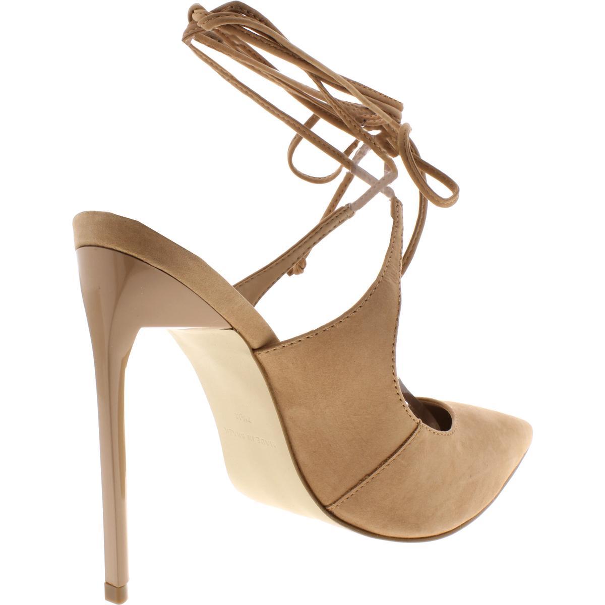 Steve-Madden-Womens-Raven-Nubuck-Ankle-Wrap-Shoes-Mules-Heels-BHFO-1622 thumbnail 8