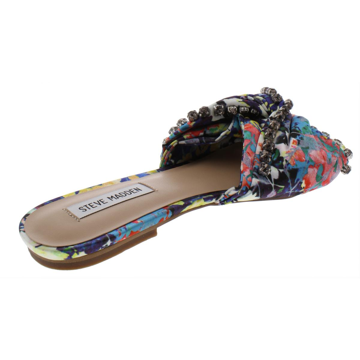 c4924167a94 Details about Steve Madden Womens Cheeky Slides Sandals Embellished Flats  Shoes BHFO 1255