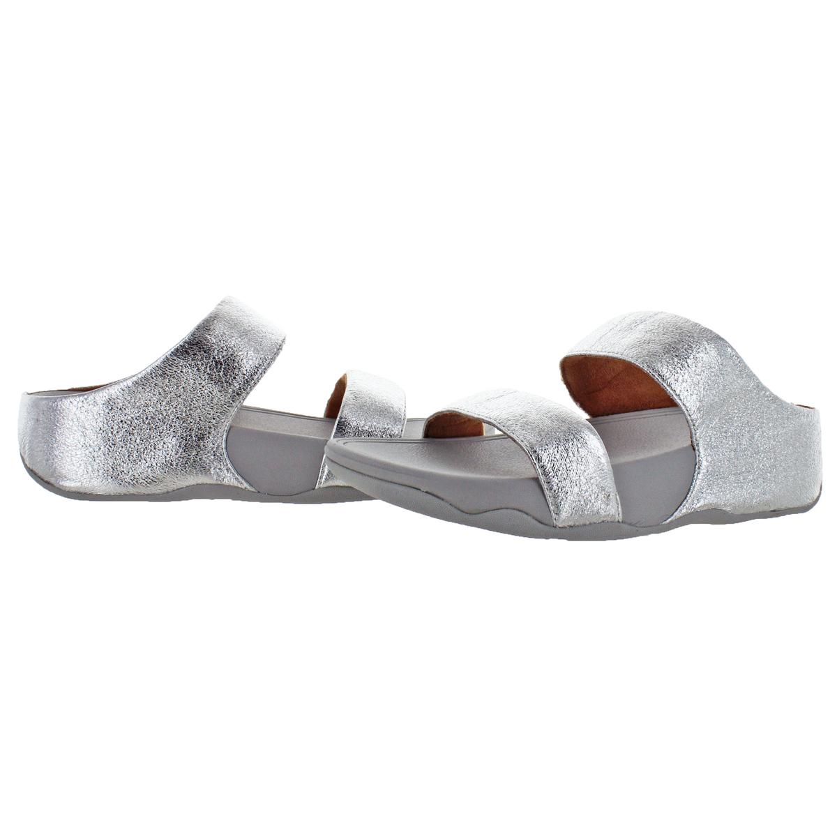 0f4545d359cf FitFlop Women s Lulu Glitzy Slide Leather Wedge Sandals