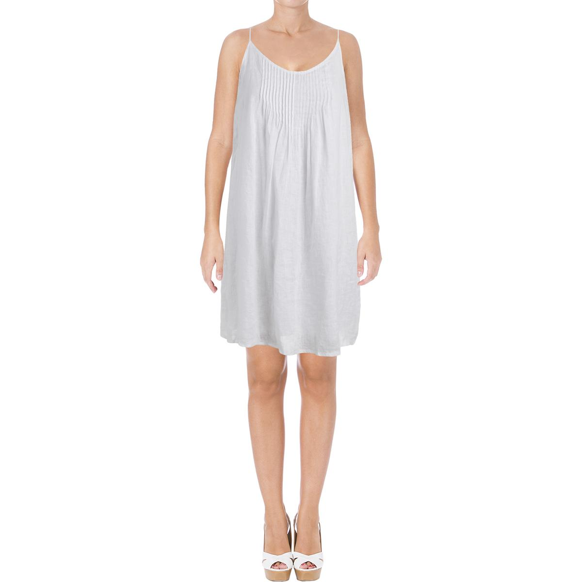 a9091b90c1 Details about Two by Vince Camuto Womens Linen Pintuck Swing Sundress BHFO  5688