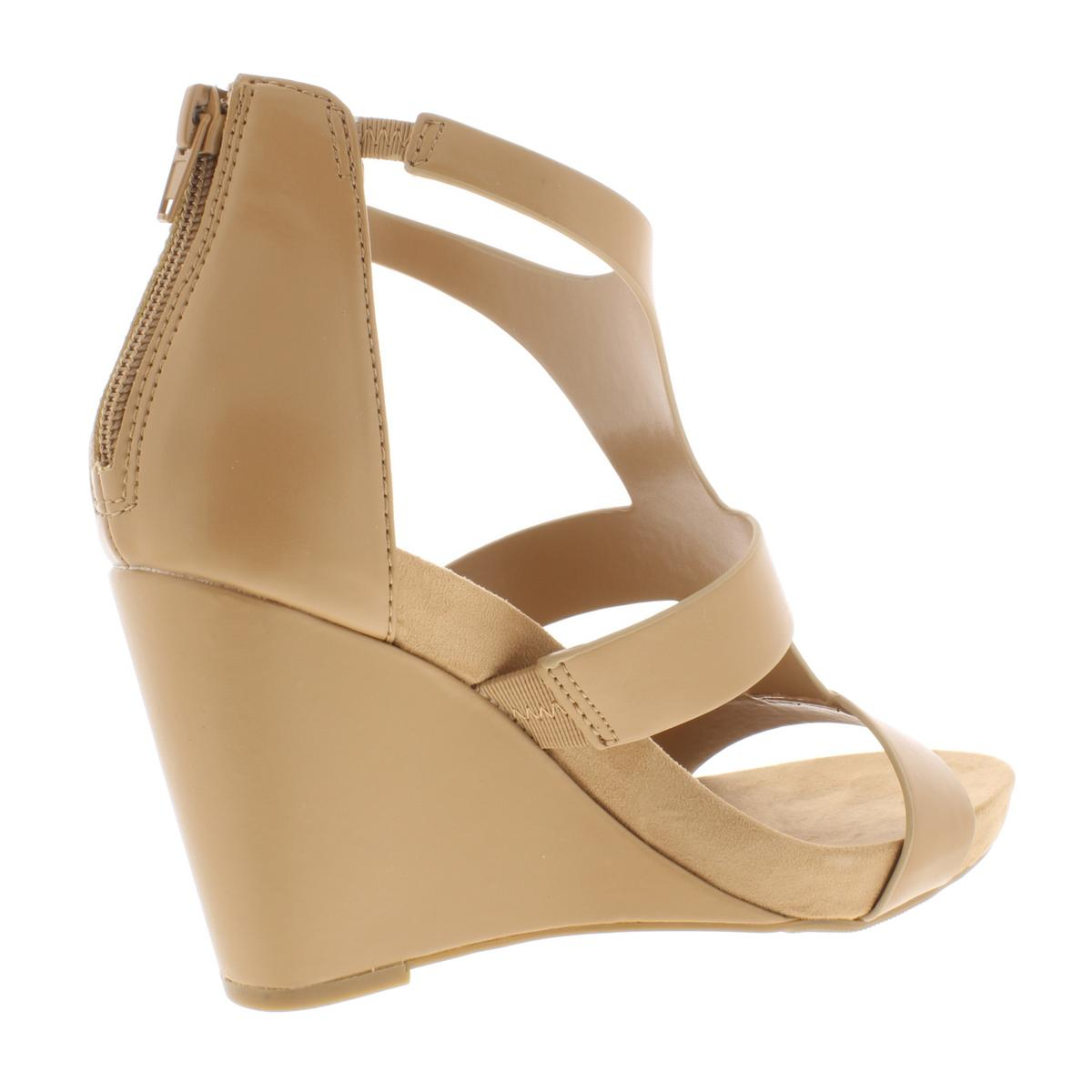 INC-Womens-Lilbeth-Faux-Leather-T-Strap-Strappy-Wedges-Sandals-BHFO-6942 thumbnail 4