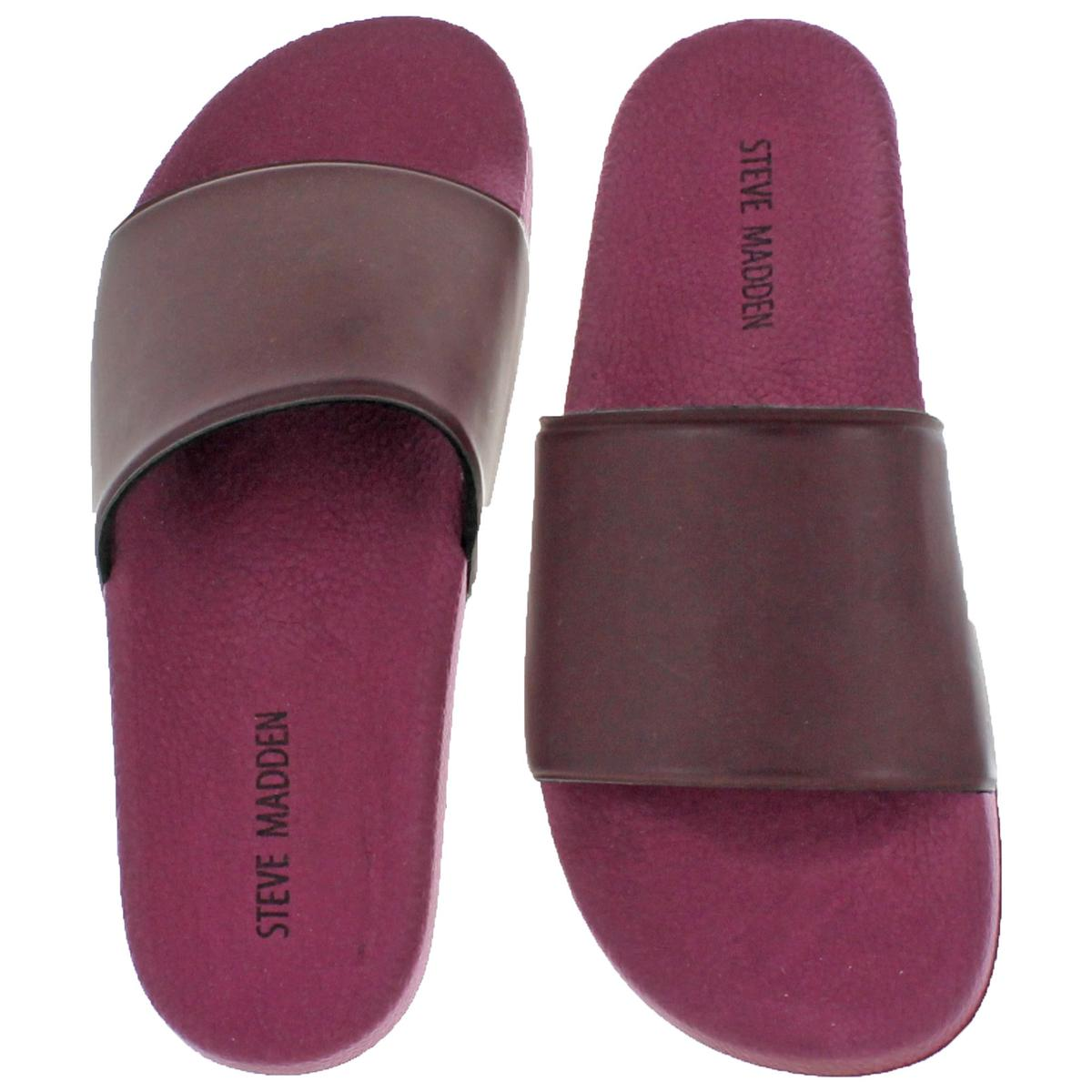 b7bfcaa3134 Steve Madden Mens Mastic Purple Slide Sport Sandals Shoes 8 Medium (d) BHFO  3338