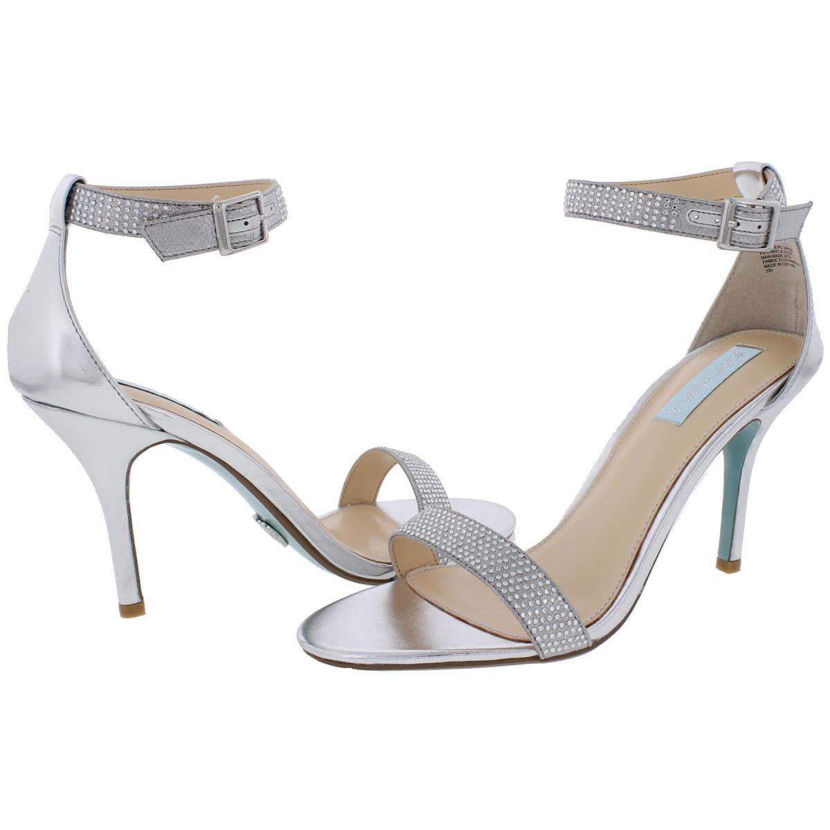 f4a99965fc9 Blue by Betsey Johnson Womens Shilo Studded Heels Dress Sandals ...