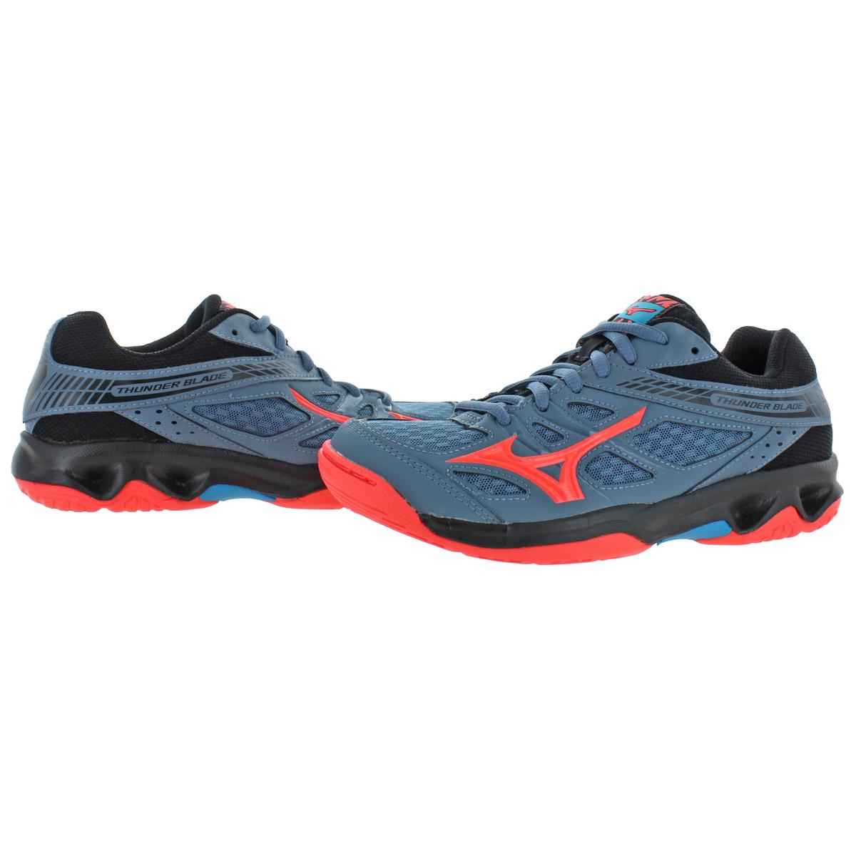 Mizuno-Womens-Thunder-Blade-Low-Top-Non-Marking-Sneakers-Shoes-BHFO-9051 thumbnail 6
