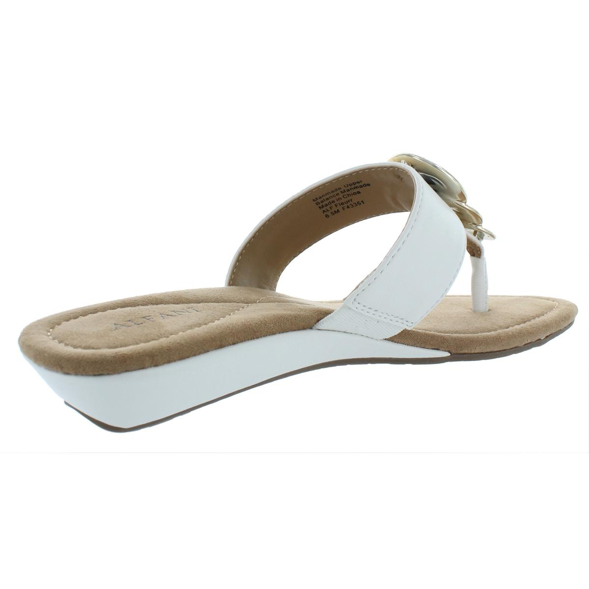 Alfani-Womens-Fleurr-Faux-Leather-Padded-Insole-Wedge-Sandals-Shoes-BHFO-6592 thumbnail 8