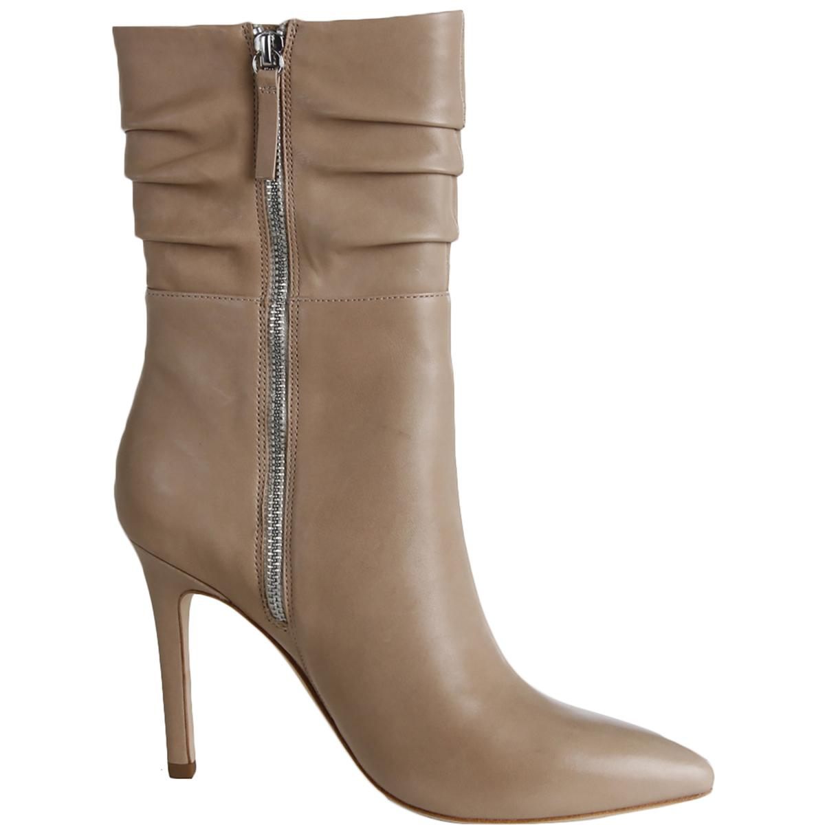 Halston-Heritage-Womens-Heather-Leather-Heels-Mid-Calf-Boots-Shoes-BHFO-1702 thumbnail 8