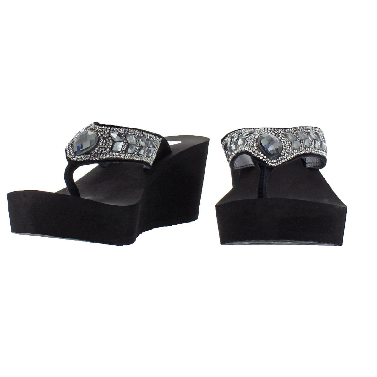 Yellow-Box-Women-039-s-Belmac-Rhinestone-EVA-Wedge-Thong-Sandals thumbnail 4