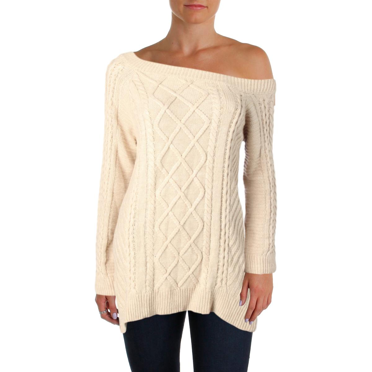 Sanctuary Womens Tinsley Cable Knit Casual Pullover Sweater Top BHFO ... dd233b1d4