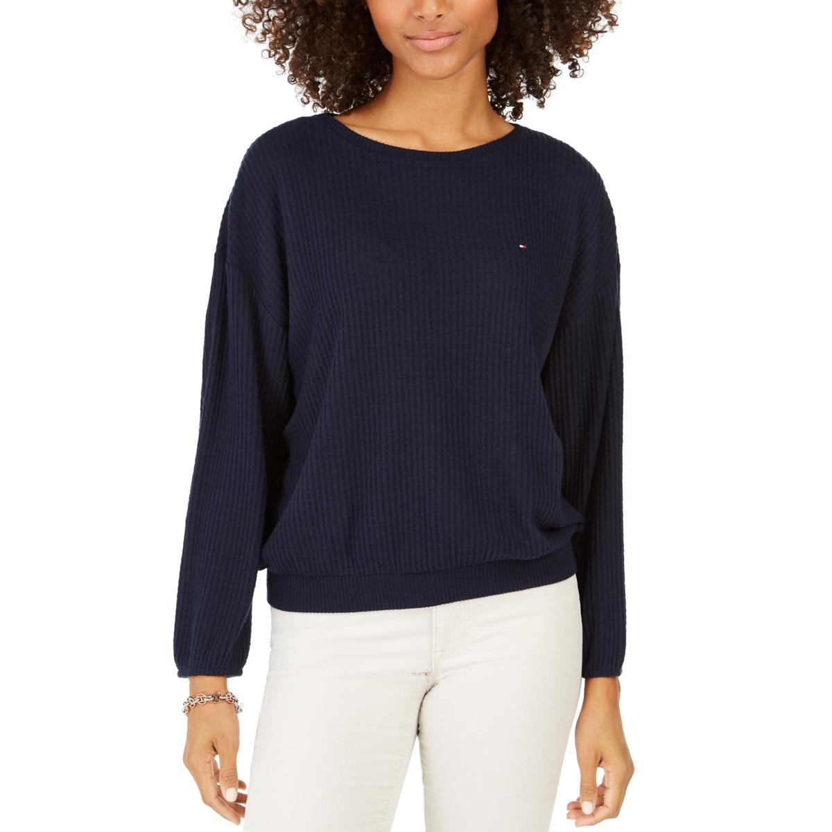 Vila Milano Womens Striped Knit Square Neck Pullover Sweater Top BHFO 9586