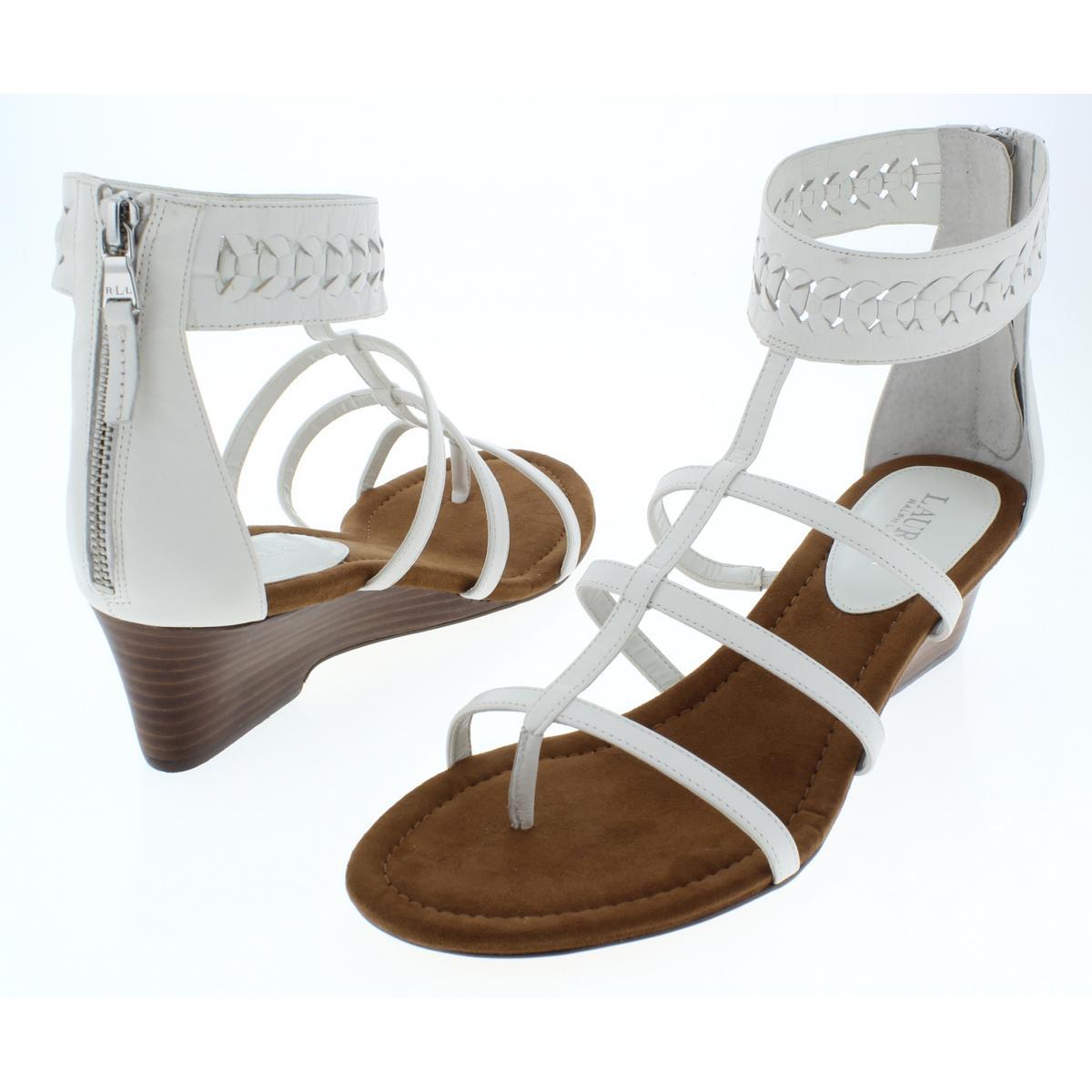 Lauren-Ralph-Lauren-Womens-Meira-Solid-Thong-Wedges-Sandals-BHFO-4677 thumbnail 6